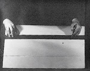 Erdély Miklós, Egy egyenes önmagával való találkozása az idô-dimenzión át, 1974