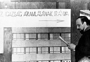 Erdély Miklós, Három kvarkot Marke királynak, Dirac a mozipénztár előtt. 1968. július 5. Iparterv székház, Budapest