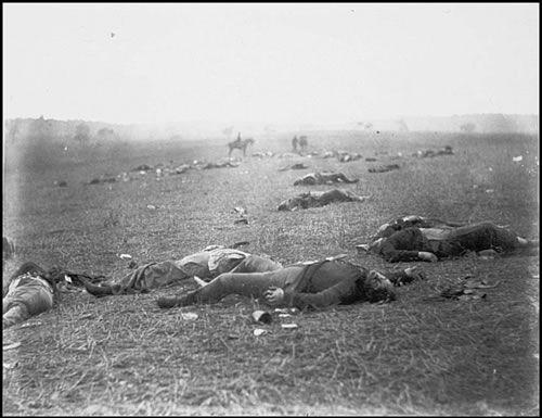 Brady felvétele a gettysburgi csata áldozatairól