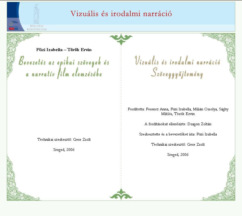 Vizuális és irodalmi narráció (digitális tananyag, 2006)