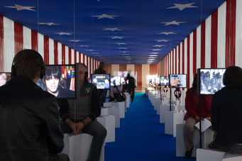 Fig 1 TV-Scape, Andy Warhol – Other Voices, Other Rooms, 12.10.07 - 13.01.08, Stedelijk Museum Amsterdam. Photo: Gert Jan van Rooij