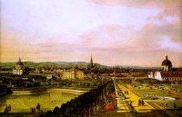Bellotto, Veduta di Vienna dal Belvedere, 1759-60