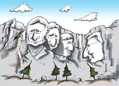 A karikaturista szemével Valami Amerika - Szalai Attila karikatúrája