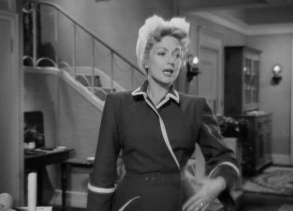 Rita (Ann Sothern) háziköntösben az Egy levél három asszonynak (A Letter to Three Wives, Mankiewicz, J. L. 1949) című filmben