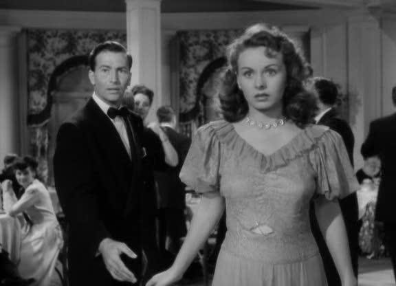 Deborah (Jeanne Crain) a bálban az <em>Egy levél három asszonynak</em> (A Letter to Three Wives. J. L. Mankiewicz, 1949) című filmben