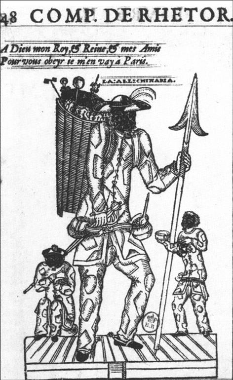Tristano Martinelli Compositions de Rhetorique (1601) című pamfletjének címlapján