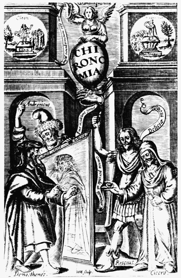 John Bulwer Chironomia, or the Art of Manuall Rhetoric (1644) című traktátusának címlapja.