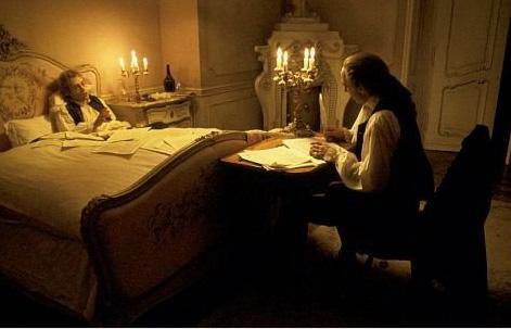 Mozart és Salieri az Amadeusban (Milos Forman, 1984)