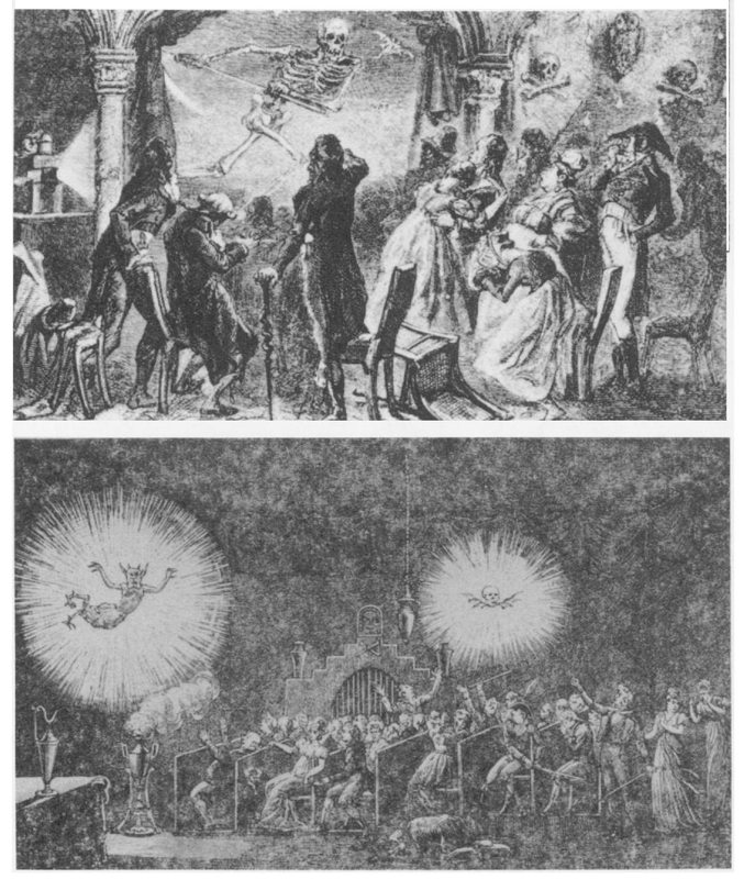 Robertson fantazmagóriájának két kortárs illusztrációja
