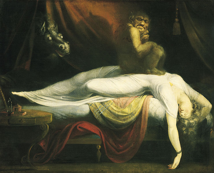 Lidércnyomás (The Nightmare. Henry Fuseli, 1782.)