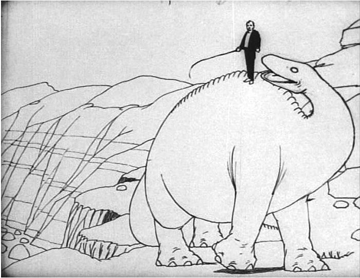 Winsor McCay belépett a Gertie, a dinoszaurusz (1914) világába.