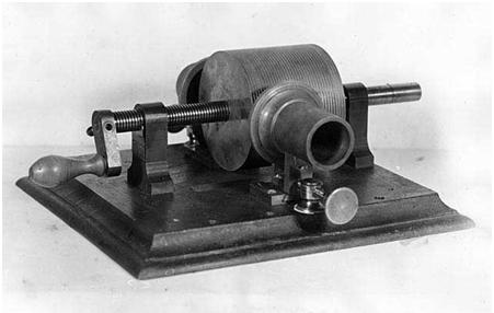 A fonográf hangrögzítő acélhengere