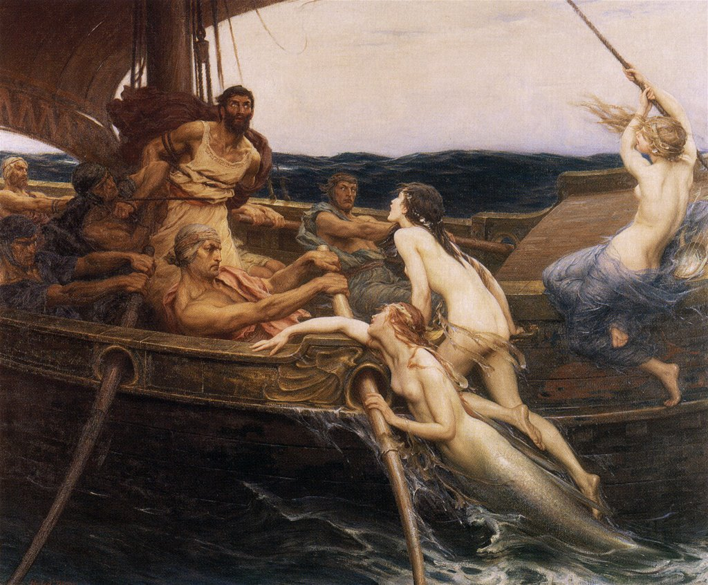 Herbert Draper: Odüsszeusz és a szirének