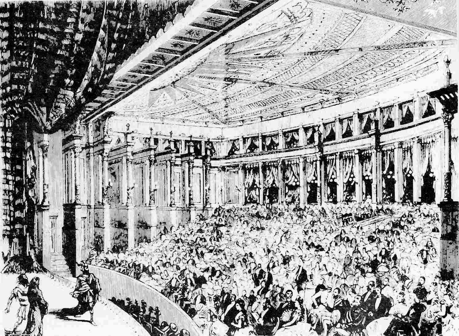 A Rajna kincse bemutatója bayreuthi Festspielhausban