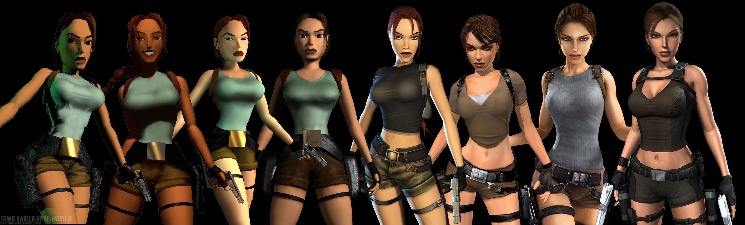 Lara Croft evolúciója