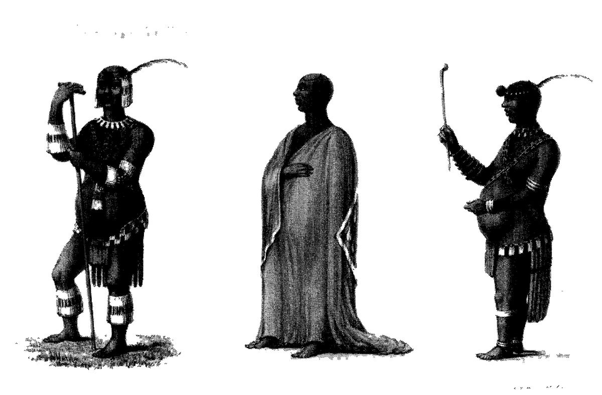 """Az afrikai férfiak """"feminin"""" jellemzői: csecsebecse, szoknya, """"terhes"""" has"""