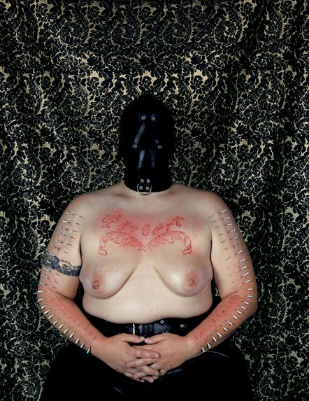 Catherine Opie: Self-Portrait, Pervert, 1994.