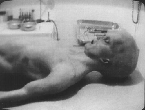 Az UFO-boncolás felvételeleiről azt állították, hogy nem sokkal egy rejtélyes repülő csészealj becsapódása (1947) után készültek.