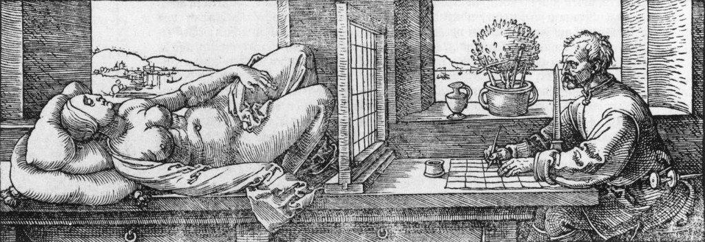 Aktrajzoló (Albrecht Dürer, ~1525)