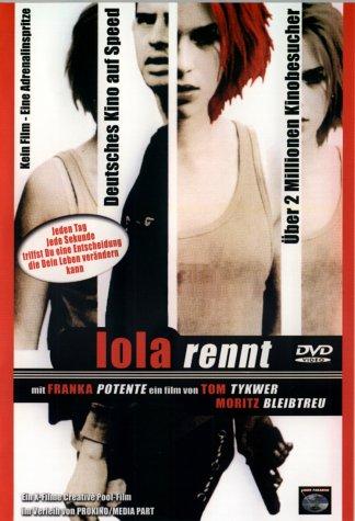 A Lé meg a Lola borítója próbálja visszaadni a film töredezettségét