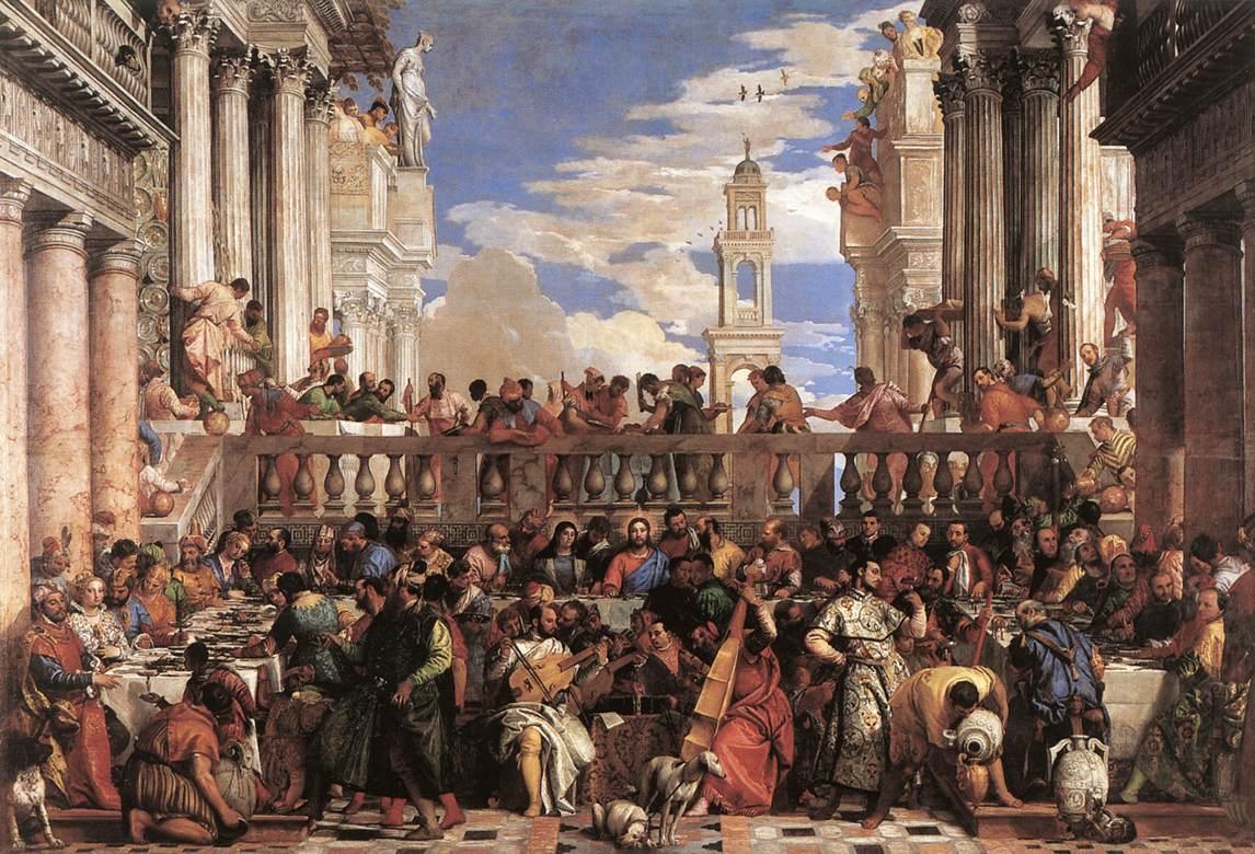 Veronese: Kánaáni menyegző (Nozze di Cana, 1462-63)