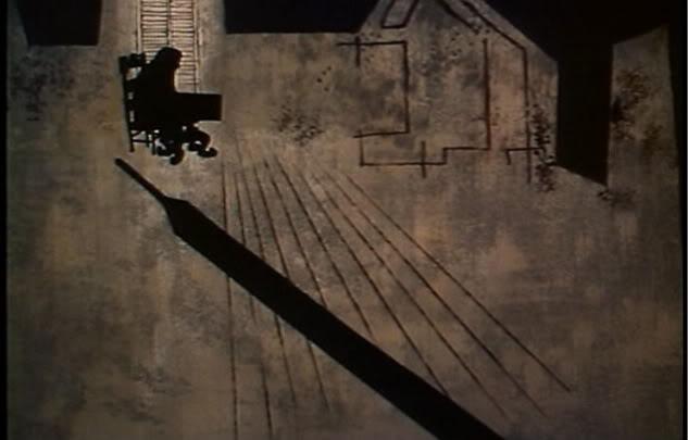 A gyilkos előrevetülő árnyéka (The Tell-Tale Heart.  Ted Parmelee, 1953)