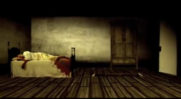 Élő szereplő festményt idéző animált környezetben ( The Tell-Tale Heart. Robert Shovey, 2008)