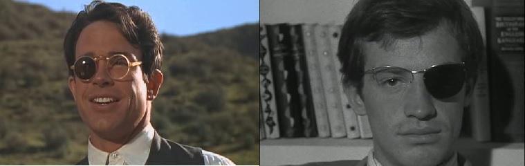 Bonnie és Clyde (Bonnie and Clyde. Arthur Penn, 1967); Kifulladásig (À bout de souffle. Jean-Luc Godard, 1960)