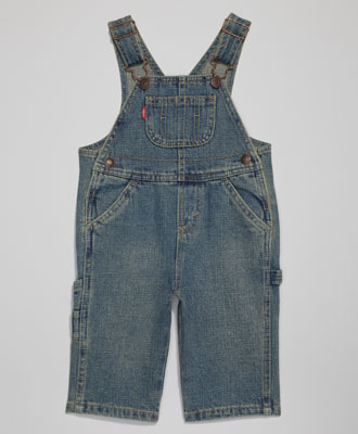 3. kép -  Levi's Baby Boys' Overalls - koptatott baba festőnadrág