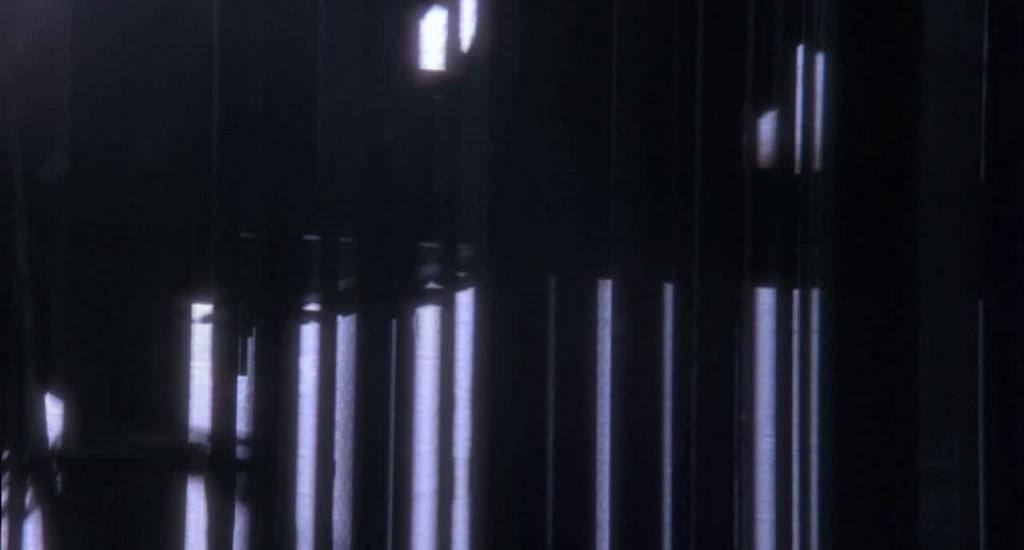 12. kép - Az időutazás eseményét a 12 majom absztrakt geometrikus formák mozgásával mutatja be - <em>12 majom</em> (12 Monkeys. Terry Gilliam, 1995)