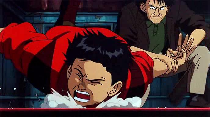 """1.30: Egy """"mélységi fókuszú"""" akciójelenet Katsuhiro Otomo <em>Akirá</em>jában (1988)."""