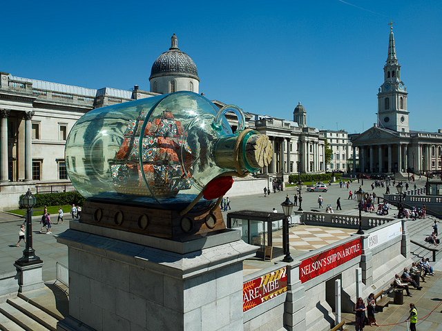 Yinka Shonibare: Nelson's Ship in a Bottle (2010) © Greater London Authority