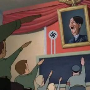 Rajzfilmfigurákkal Hitler ellen