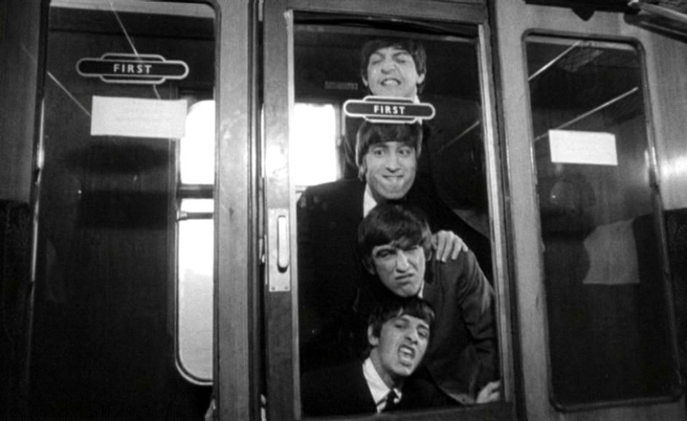 A Beatles az <em>Egy nehéz nap éjszakájá</em>ban (A Hard Day's Night. Richard Lester, 1964)