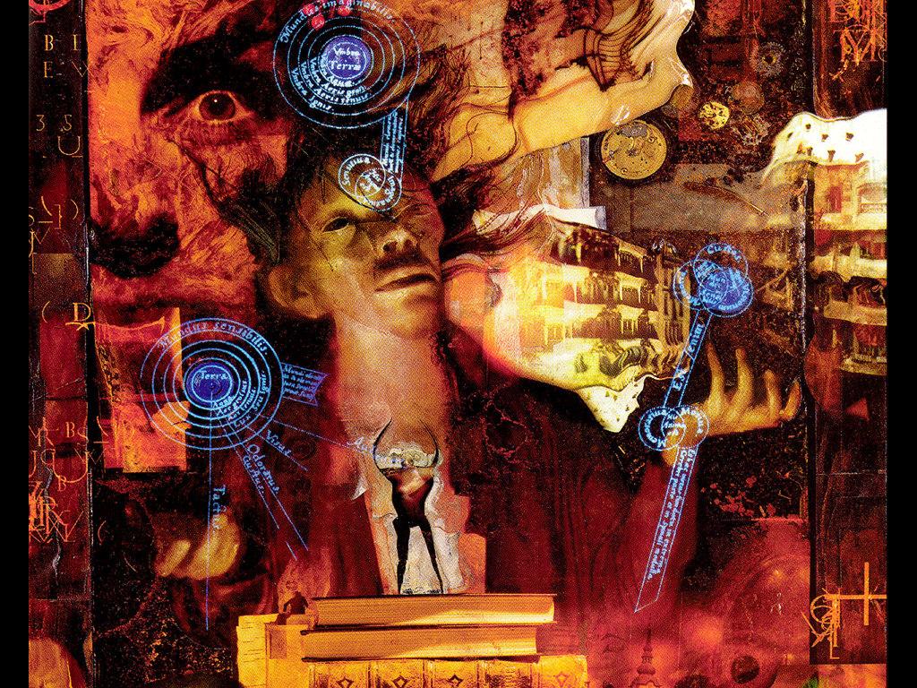 Dave Mckean illusztrációja a <em>Prelűdök és noktürnök</em>höz