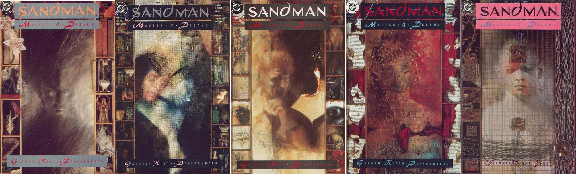 Sandman-borítók. Dave McKean munkái.