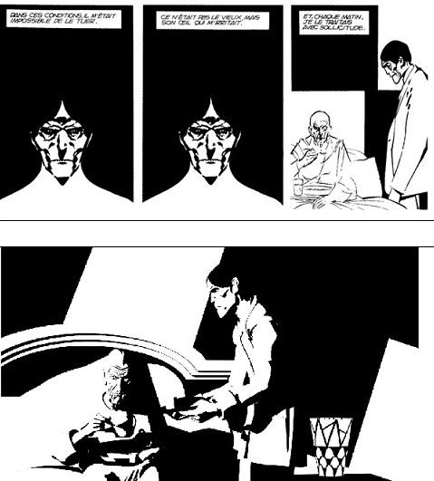 Képregényből animáció (El corazón delator. Alberto Breccia, 1975 és Raúl García: The Tell-Tale Heart, 2005)