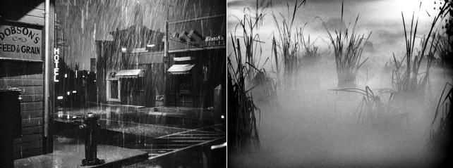 Stilizált, mesterséges helyszínek a nyitó képtől a zárásig a Fegyverbolondokban (Gun Crazy. Joseph H. Lewis, 1950)
