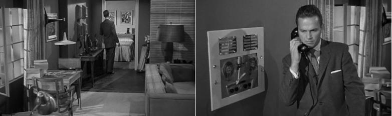 Mike Hammer lakása aCsókolj halálosan című filmben (Kiss Me Deadly. Robert Aldrich, 1955)