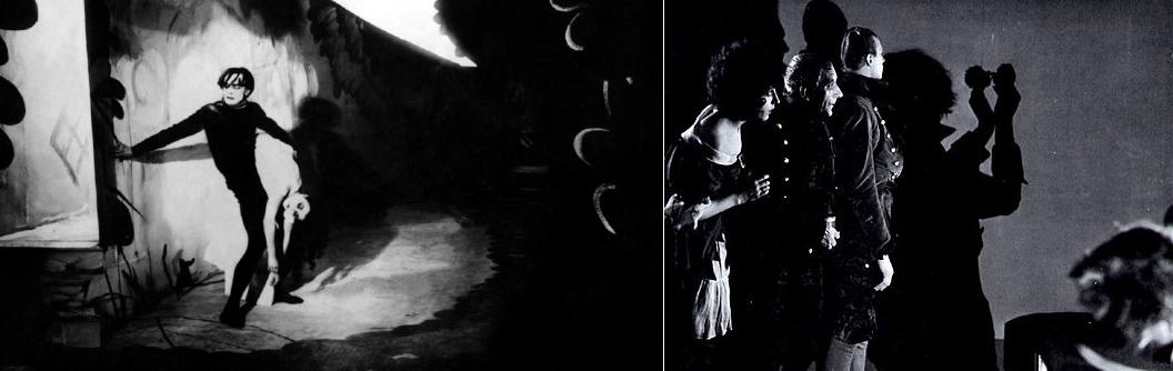 Dr. Caligari (Das Cabinet des Dr. Caligari. Robert Wiene, 1920); A rémület árnyéka (Schatten. Eine nächtliche Halluzination. Arthur Robinson, 1923)
