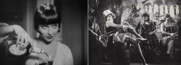 Louise Brooks a Pandora szelencéjében (Die Büchse der Pandora. G. W. Pabst, 1929) és Marlene Dietrich A kék angyalban (Der Blaue Engel. Josef von Sternberg, 1930)