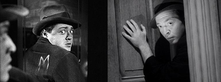 Peter Lorre Fritz Lang M-jében (M - Eine Stadt sucht einen Mörder, 1931) és Boris Ingster The Stranger on the Third Floor (1940) idegenjeként