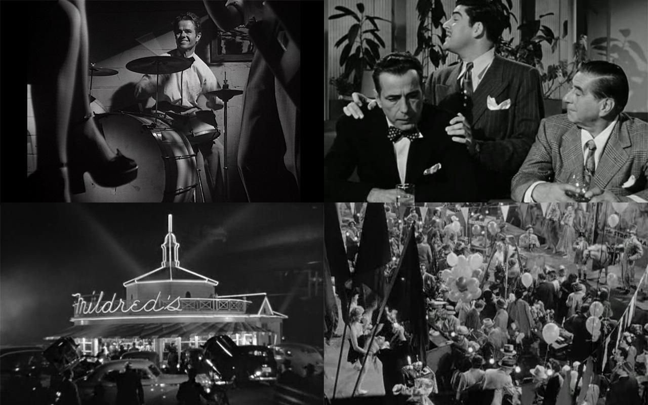 A rejtélyes asszony (Phantom Lady. Robert Siodmak, 1944); Magányos helyen (In a Lonely Place. Nicholas Ray, 1950); Mildred Pierce (Michael Curtiz, 1945); Fegyverbolondok (Gun Crazy. Jospeh H. Lewis, 1950)