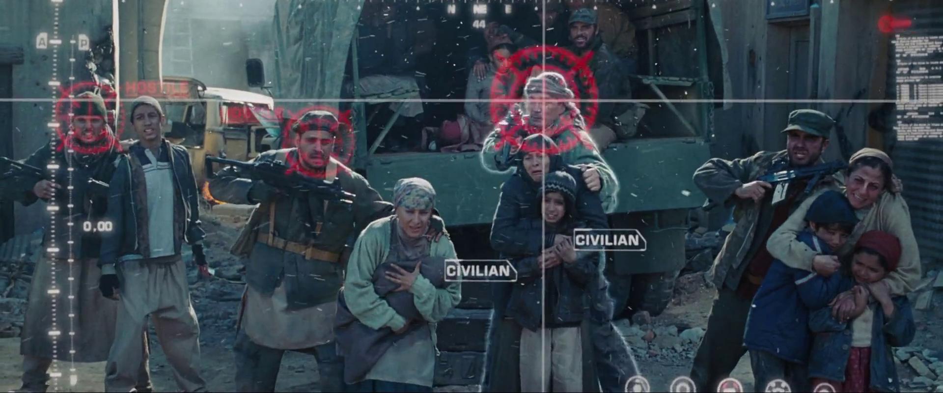 A terroristák és a civilek megkülönböztetésének ábrázolása az adatvizualizáció révén a <em>Vasember</em>ben