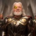 SUNDAY CALENDAR STORY FOR JULY 18, 2010. **************DO NOT USE PRIOR TO PUBLICATION.  Left to right: Thor (Chris Hemsworth), Odin (Anthony Hopkins), and Loki (Tom Hiddleston) in Marvel StudiosÕ ÒThor.Ó