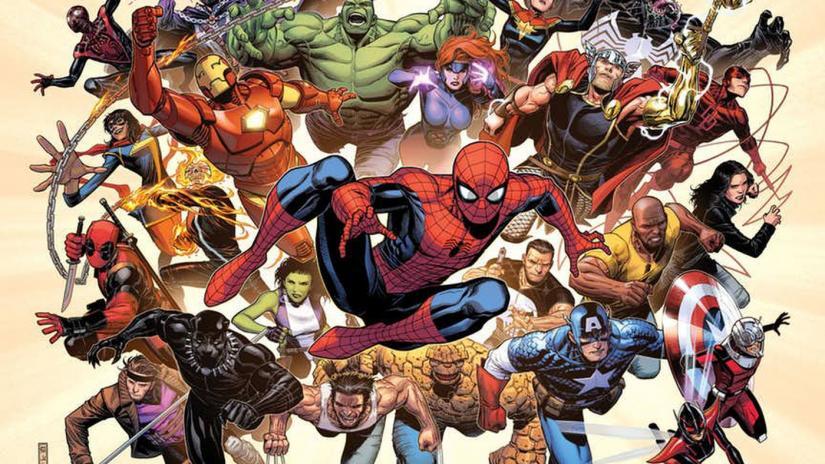 A Marvel szuperhős panoptikuma (kép forrása: https://multversogeek.com.br/marvel-fresh-start-lista-dos-primeiros-titulos/)