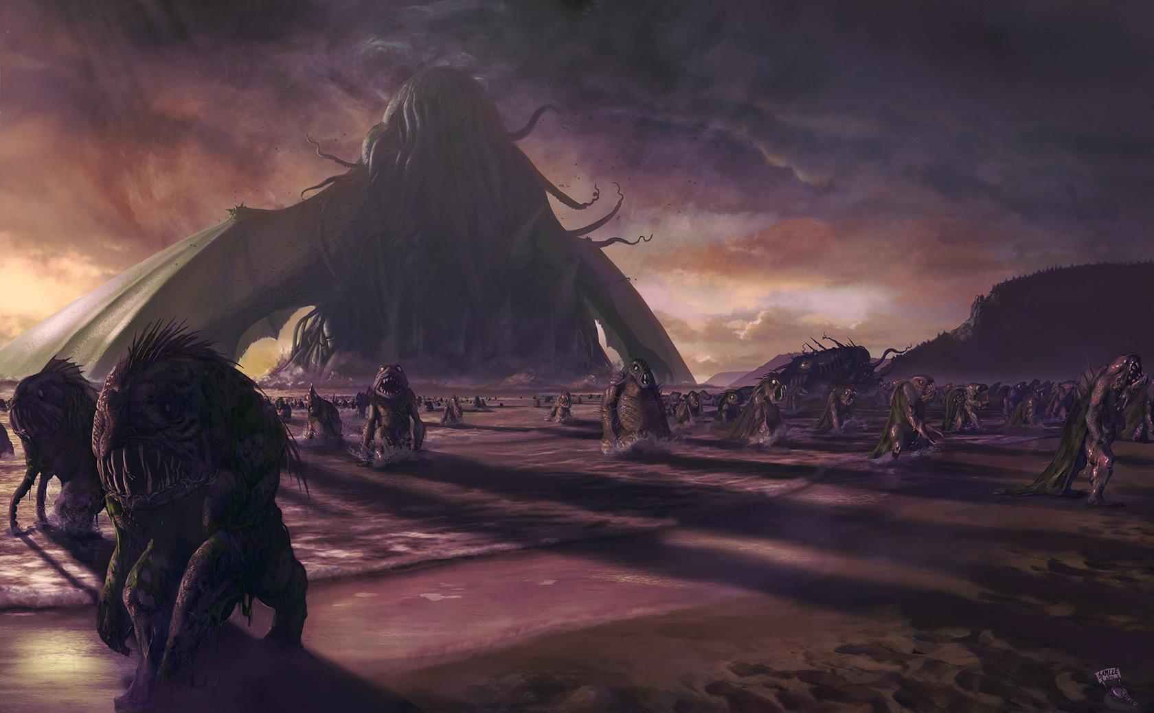 Xaltotun: Cthulhu fhtagn no more (2012). (Lovecrafti ihletésű fan art)