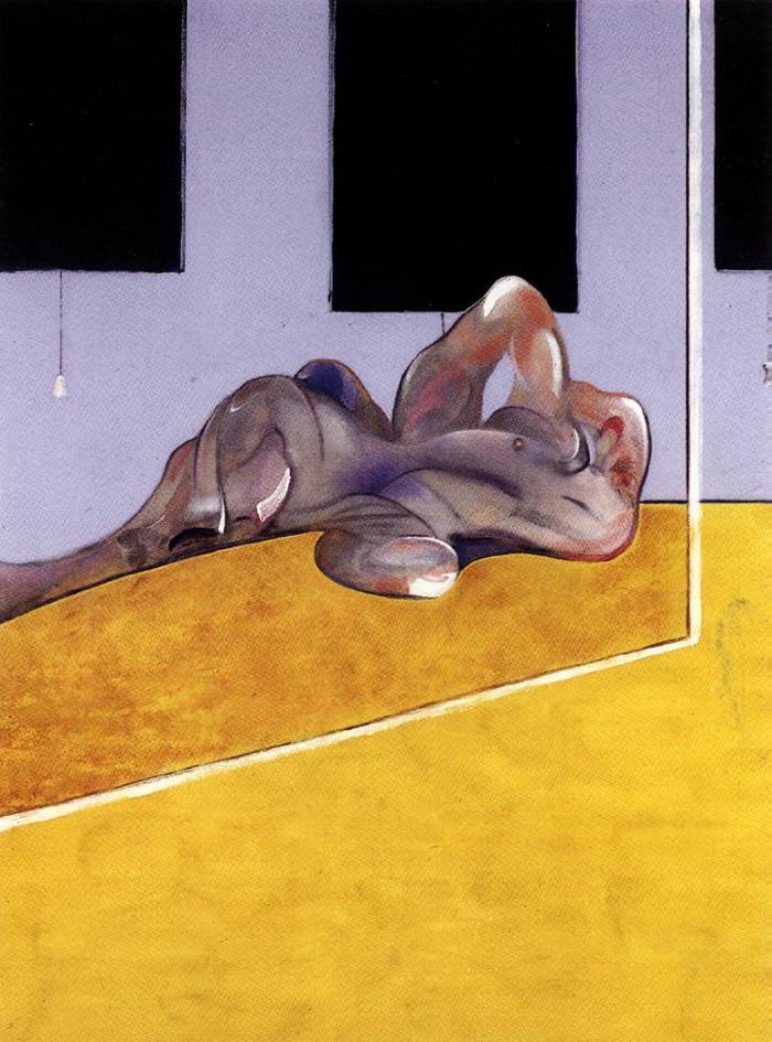Francis Bacon Fekvő alak tükörben (1971)