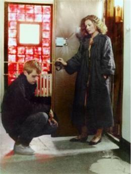 Jelenet Kieślowski egy mai lovagi szerelemről készült, Rövidfilm a szerelemről c. filmjéből: Tomek (Olaf Lubaszenko) térdel a szeretett nő, Magda (Grazyna Szapolowska) előtt