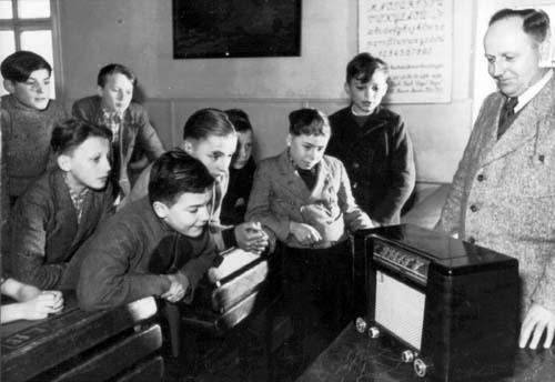 Rádióiskola (Schulfunk) az 50-es években